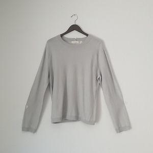 Inhabit speckled linen long sleeve size L